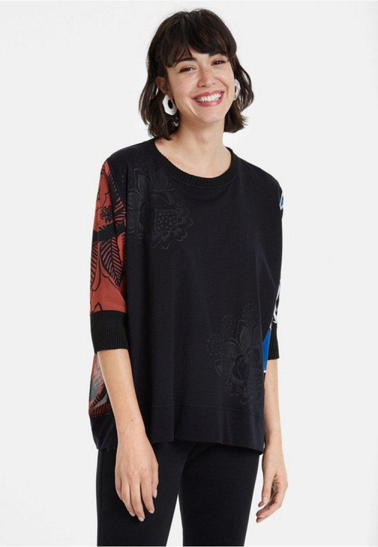 Desigual - TS_ADASH - Bluzka z długim rękawem - black