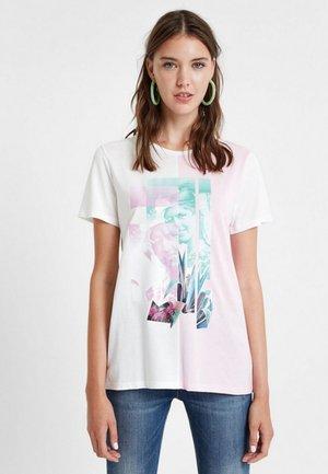 PORTRAIT - T-shirt z nadrukiem - white