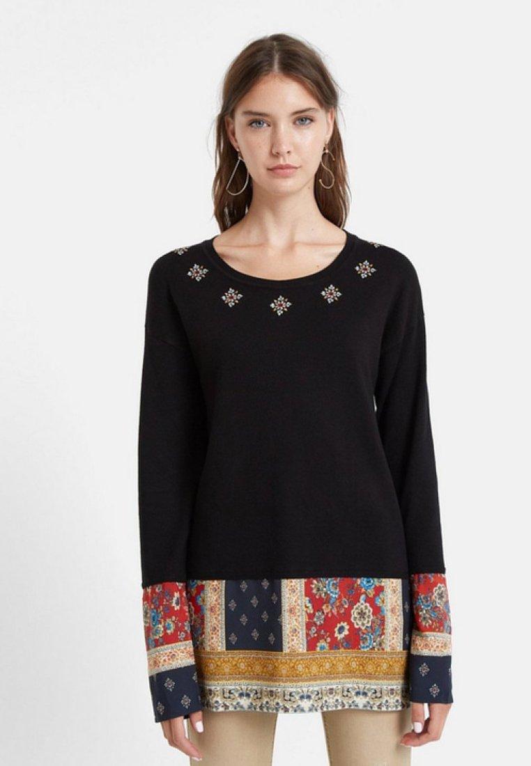 Desigual - Stickad tröja - black