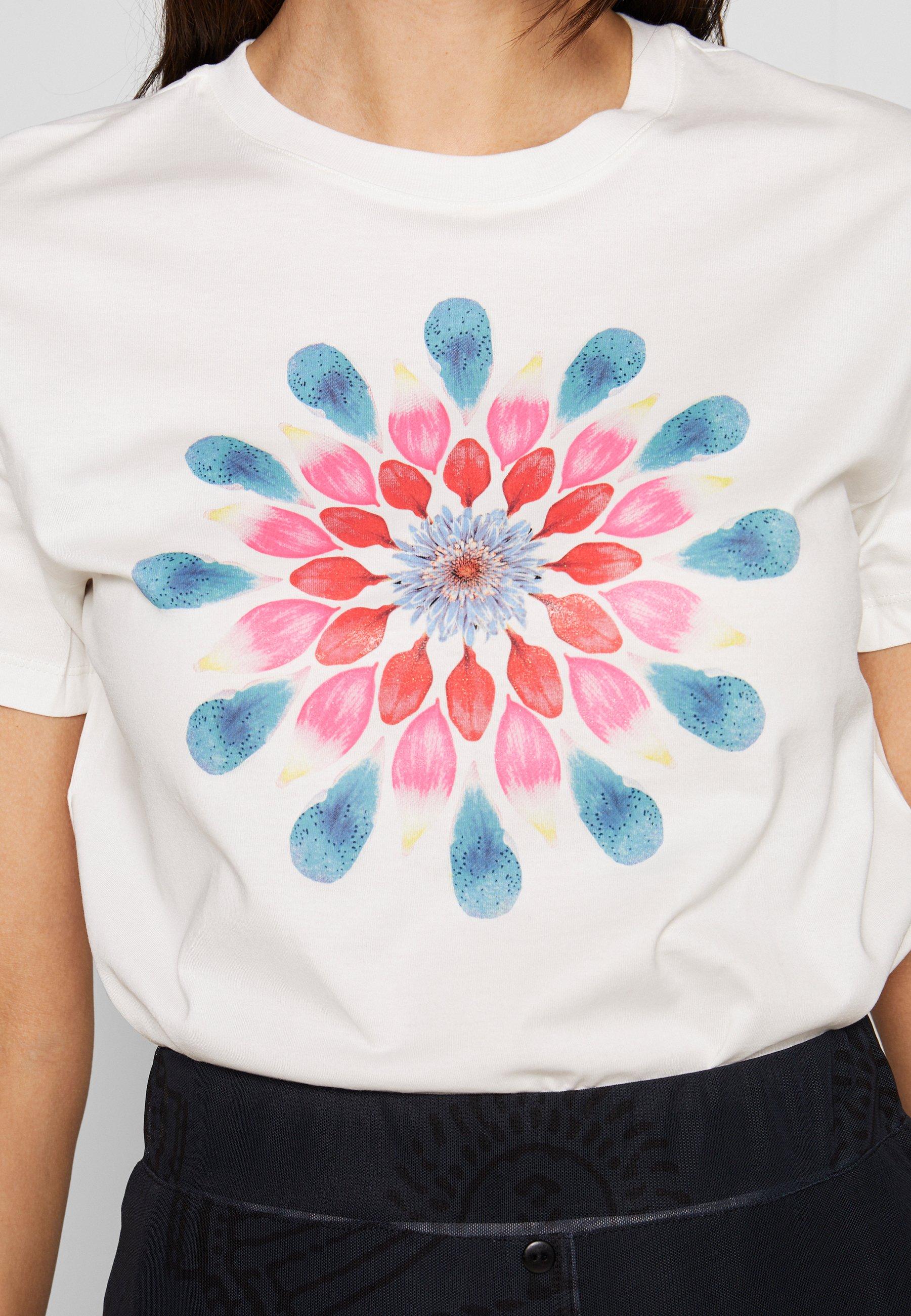 Desigual MILAN - T-shirts med print - blanco
