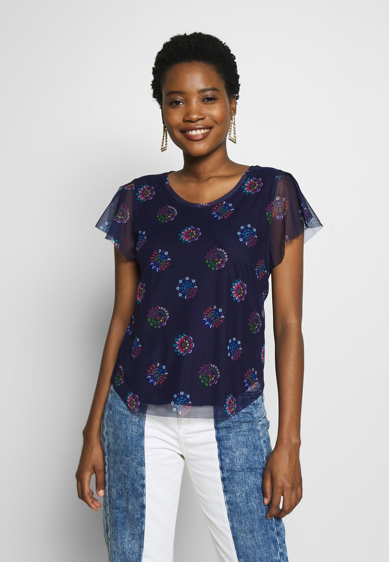 Desigual - VARSOVIA - T-shirts med print - estate blue