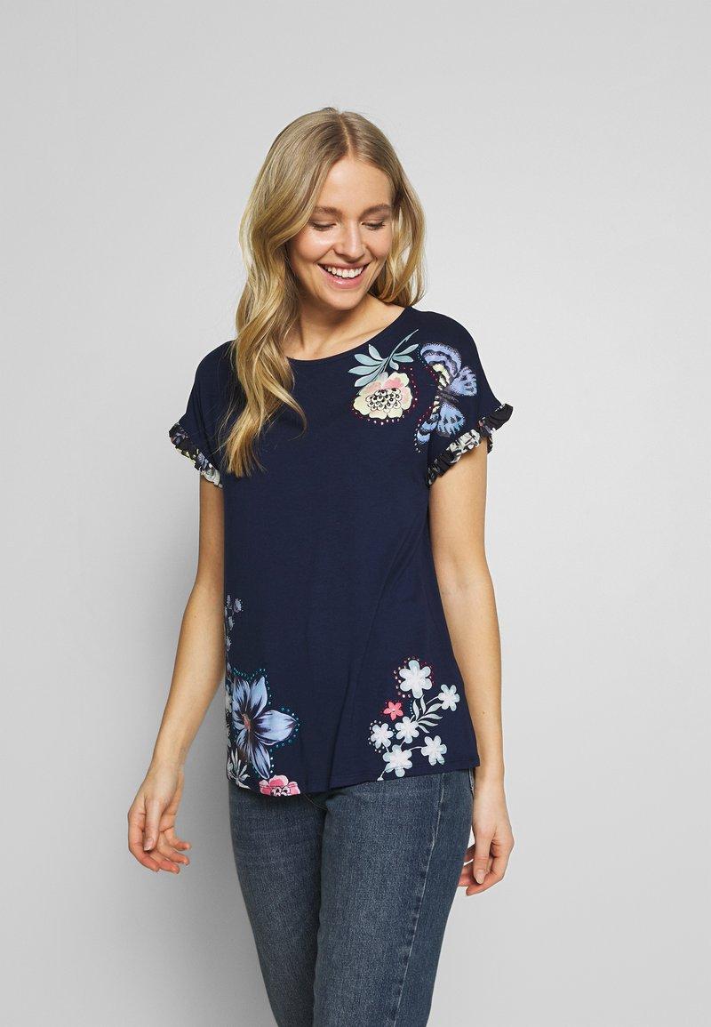 Desigual - MUNICH - T-shirt imprimé - navy