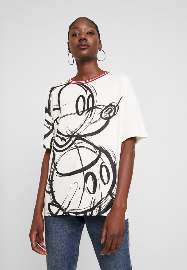 LOVE MICKEY - Camiseta estampada - blanco