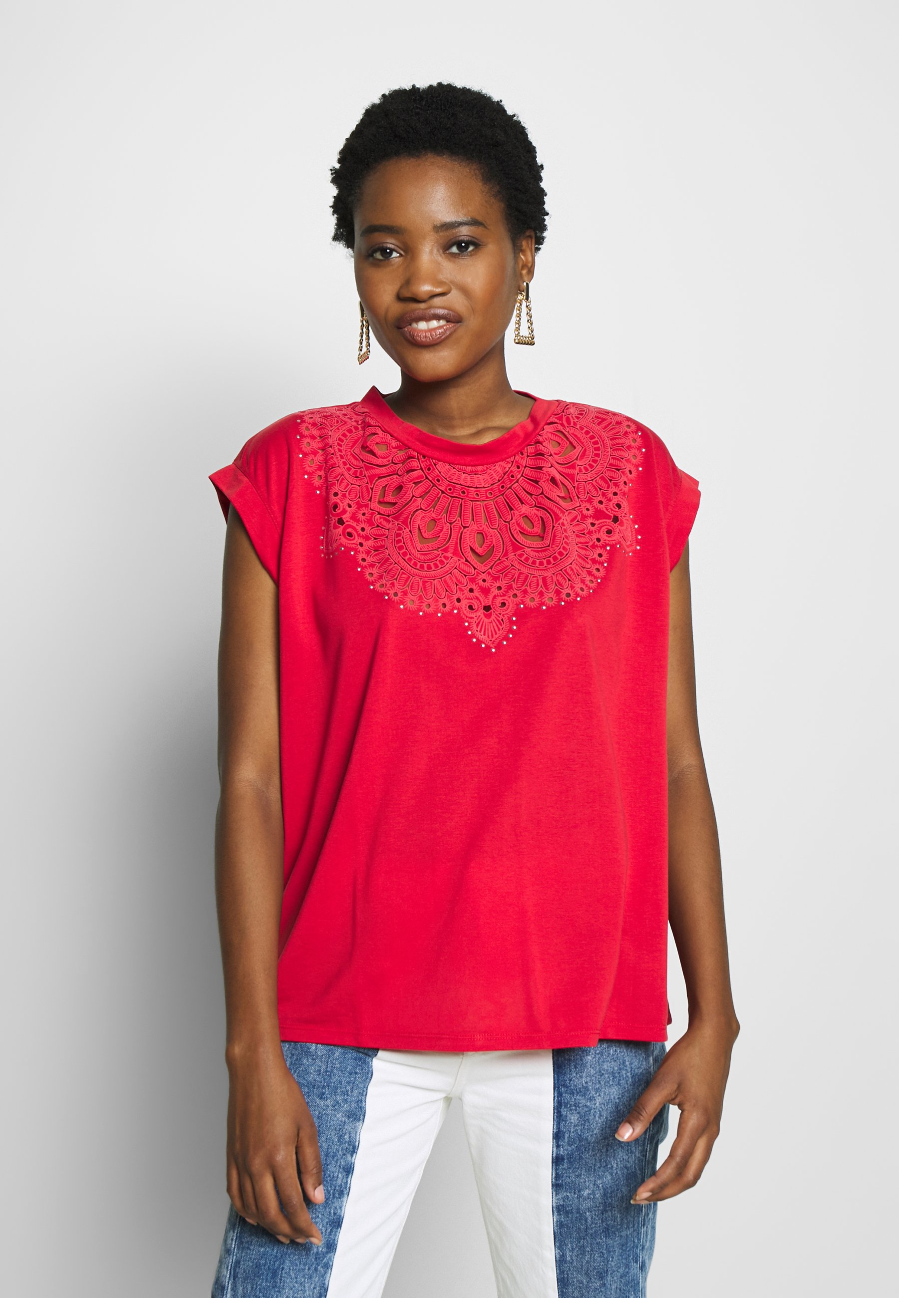 Desigual BUDAPEST - T-shirts med print - racing red