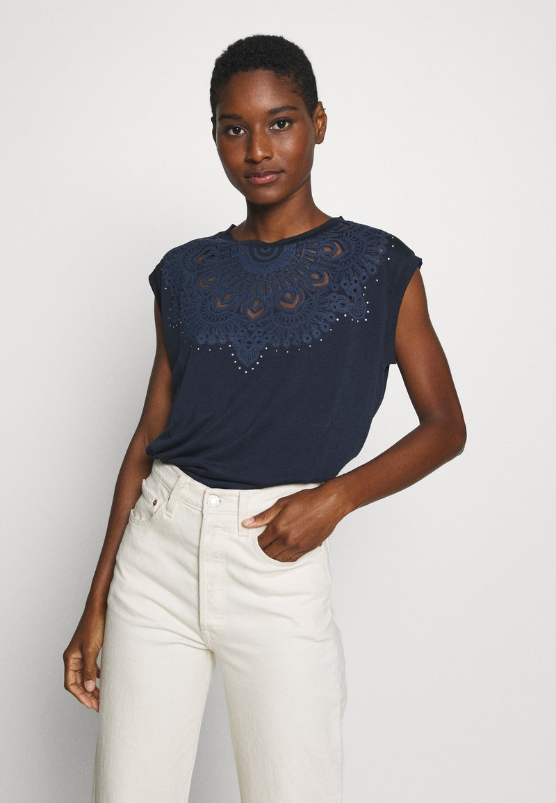 Desigual - BUDAPEST - T-shirt con stampa - navy