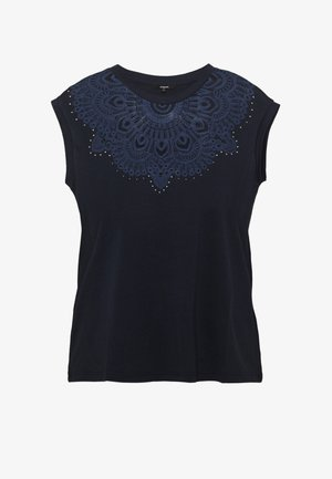 BUDAPEST - T-shirt con stampa - navy
