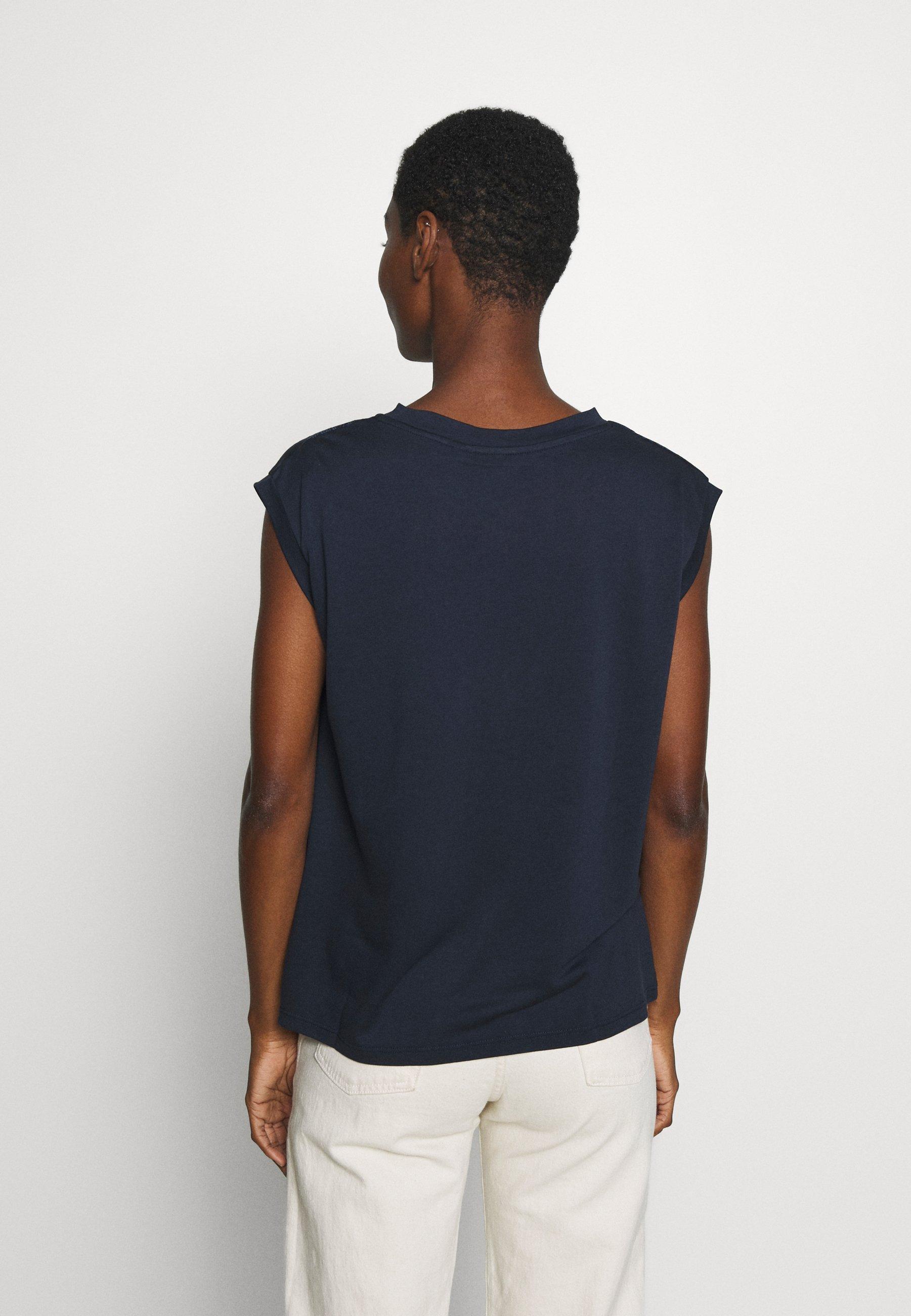 Desigual BUDAPEST - T-shirts med print - navy