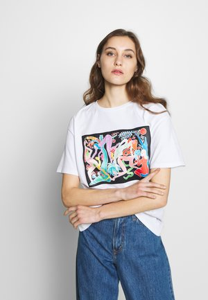 DESIGNED BY MIRANDA MAKAROFF - Camiseta estampada - blanco
