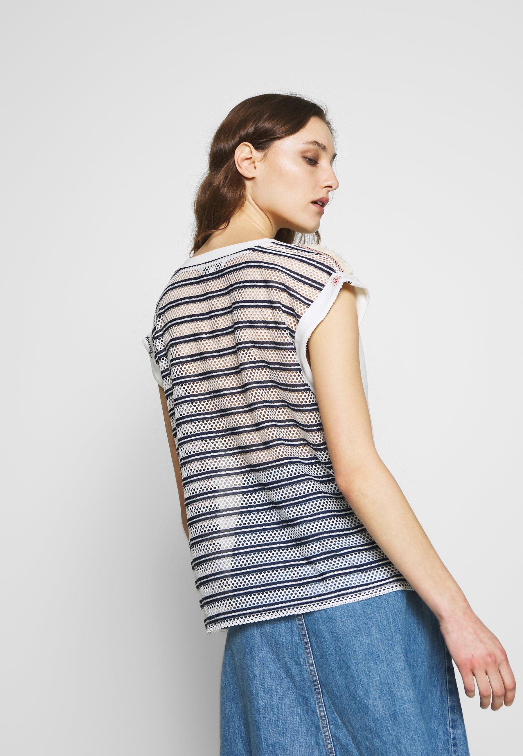 Desigual VERONA - Print T-shirt - crudo
