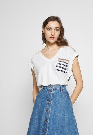 VERONA - Camiseta estampada - crudo