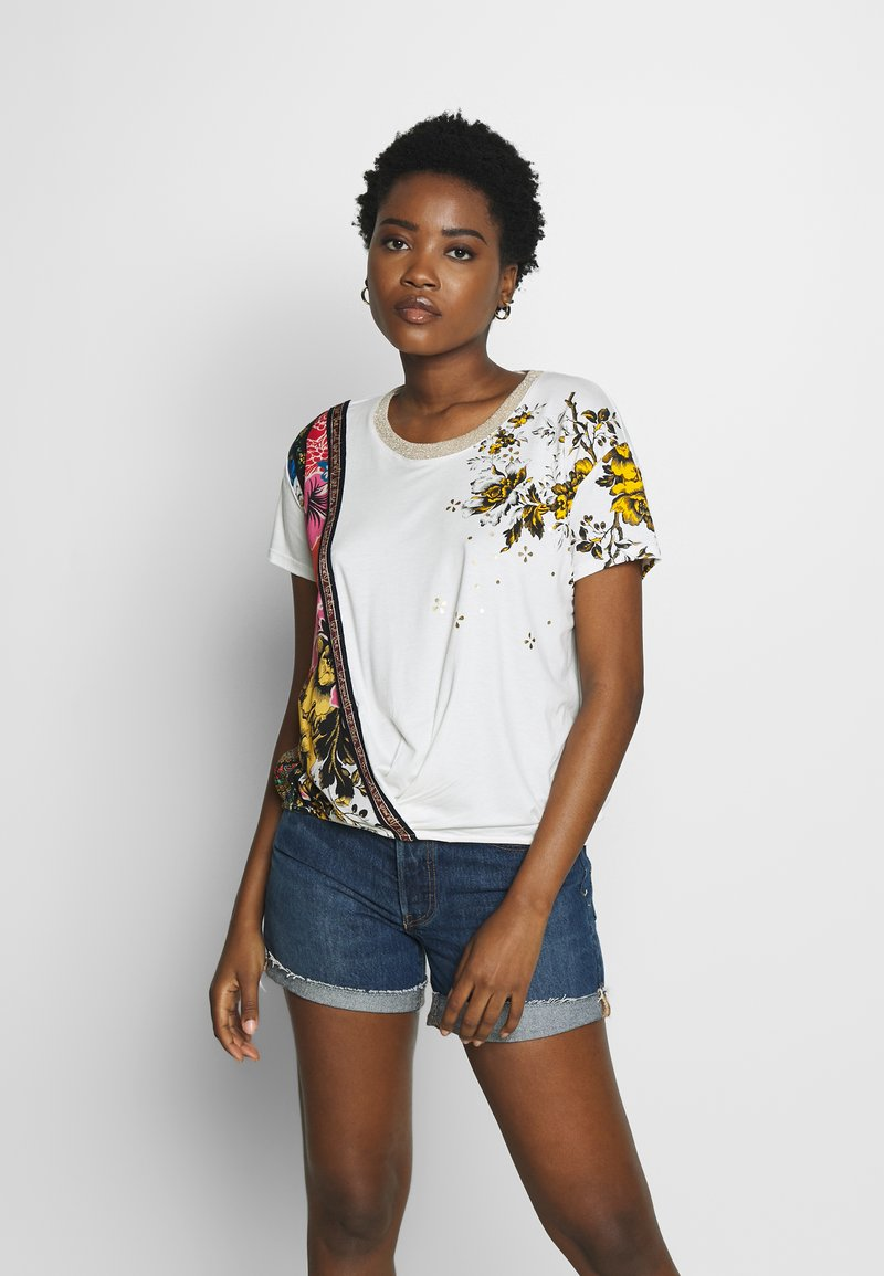 Desigual - ATENAS - T-shirt imprimé - white
