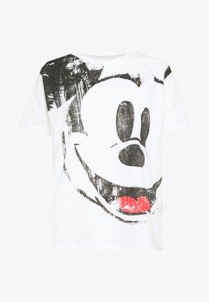 T-shirt med print - blanco
