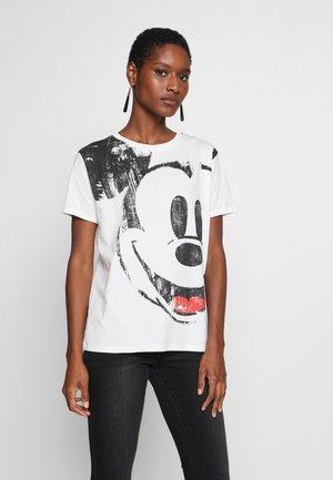 Print T-shirt - blanco