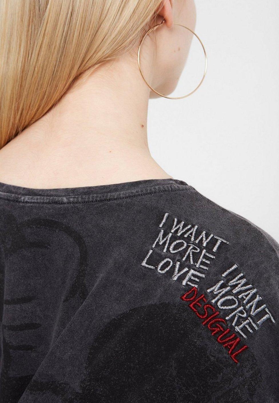 Desigual Print T-shirt - black