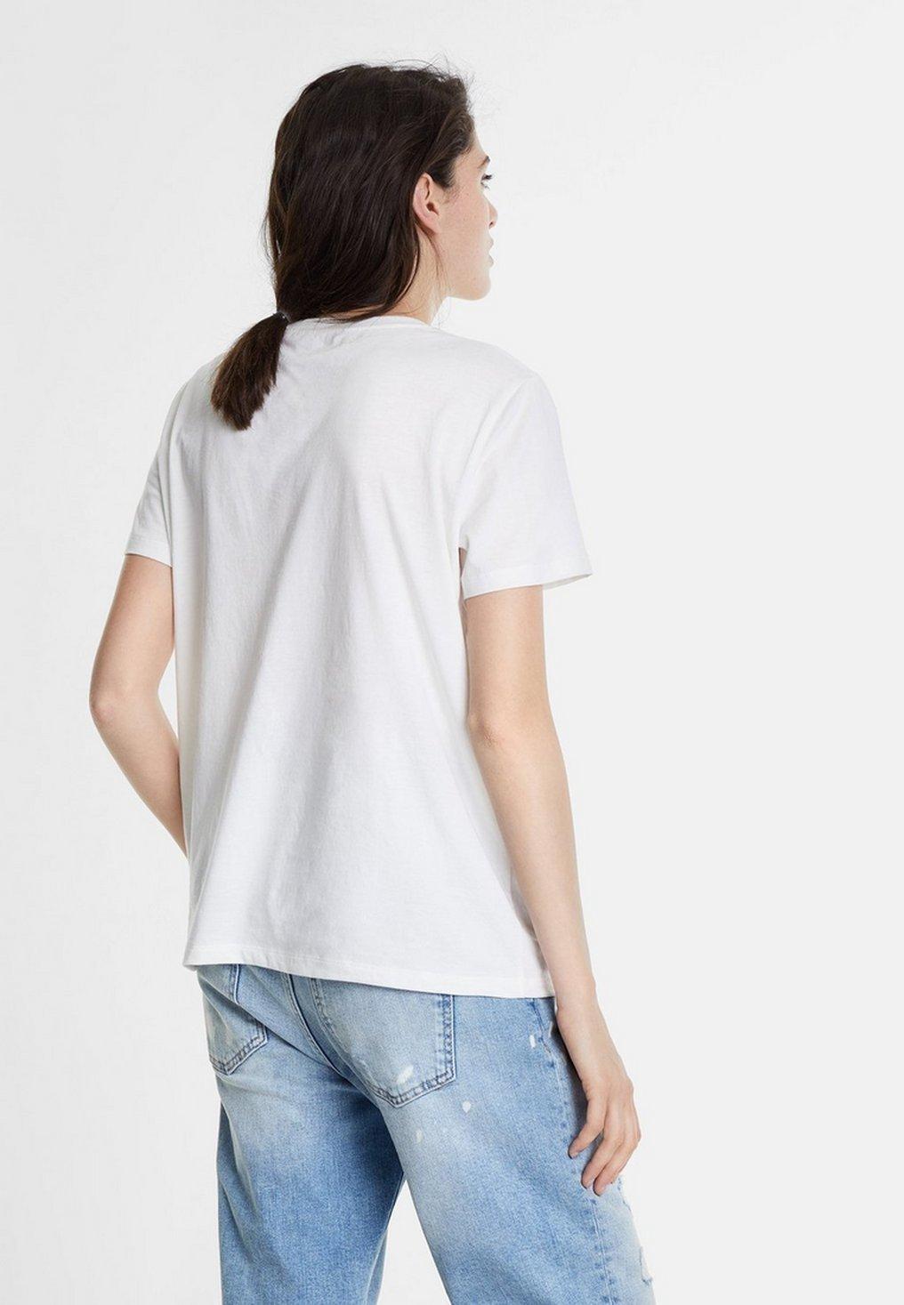 Desigual Print T-shirt - white