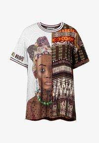Desigual - PISA - T-shirt z nadrukiem - green - 4
