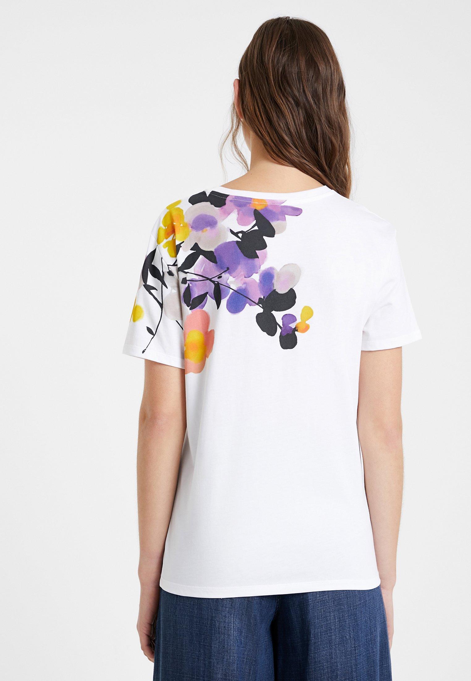 Desigual T-shirt Con Stampa - White saBGMRz
