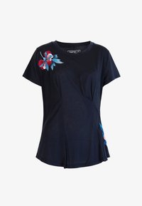 Desigual - TEE FRONT PLEATS JAPAN - T-shirt con stampa - blue - 4