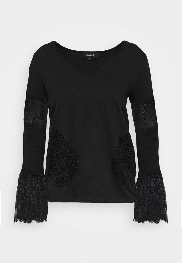 AMELIA - Maglietta a manica lunga - black