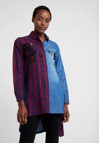 Desigual - CAM FEZ - Koszula - blue denim - 0
