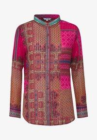 Desigual - CAMASIS - Button-down blouse - granate medio - 4