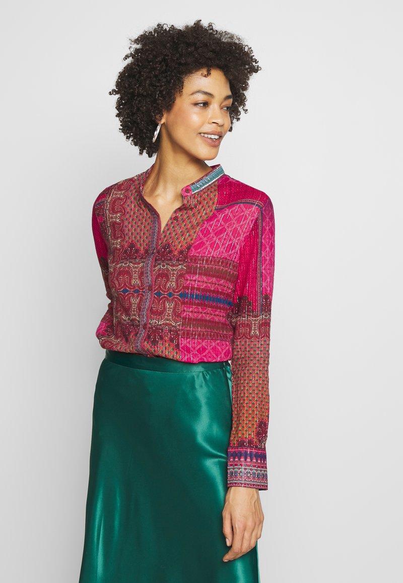 Desigual - CAMASIS - Button-down blouse - granate medio
