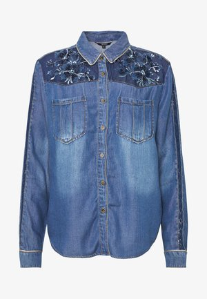 CAM FLOWINGS - Blůza - denim medium wash