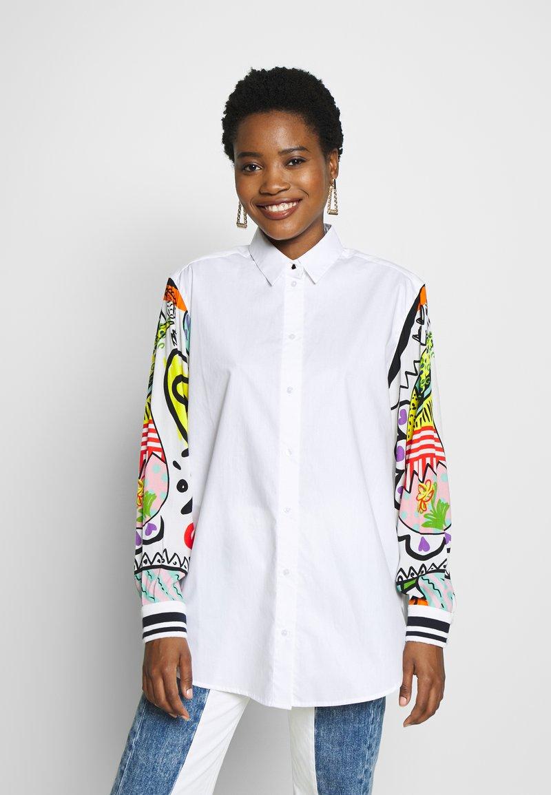 Desigual - CAM TARENTO - Button-down blouse - blanco