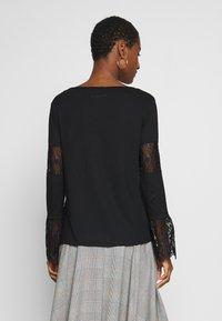 Desigual - AMELIA - Maglietta a manica lunga - black - 2