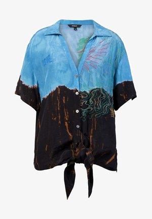 CAM RAVENA - Button-down blouse - blue