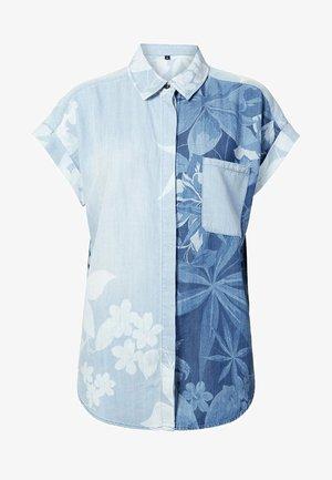 CAM_BLUEWAI - Button-down blouse - blue
