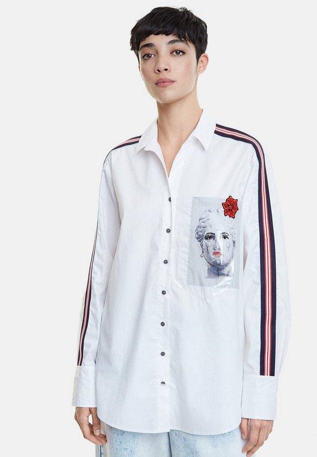 AFRODITA - Button-down blouse - white