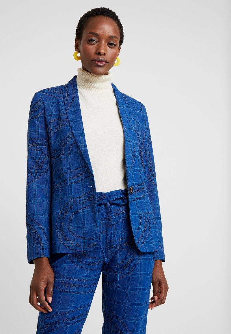 Desigual - CHAQ TURIN - Blazer - royal blue