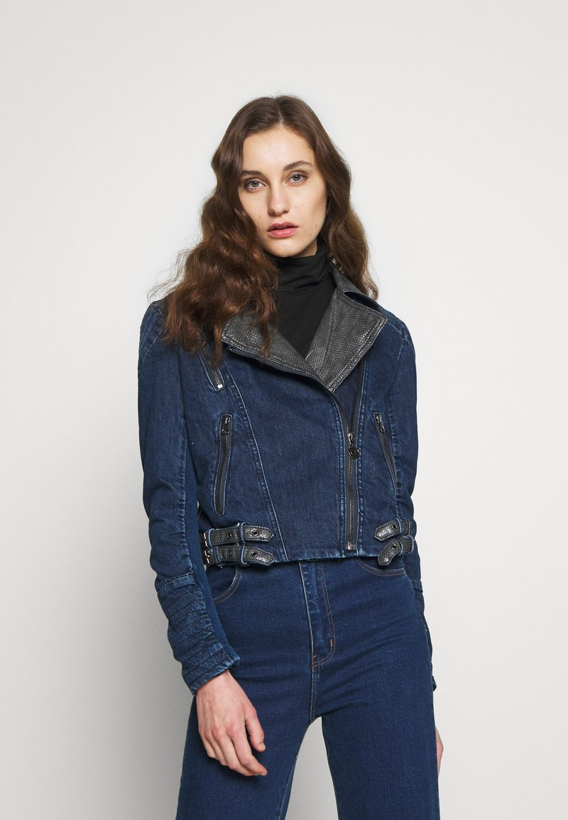 Desigual - CHAQ DENIS - Džínová bunda - denim medium dark