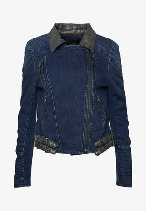 CHAQ DENIS - Denim jacket - denim medium dark
