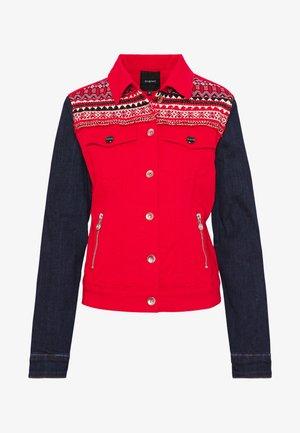 CHAQ DUVAL - Jeansjakke - rojo