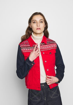 CHAQ DUVAL - Denim jacket - rojo
