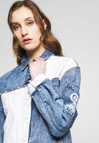 Desigual - LOLLYPOP - Giacca di jeans - blue deinm/white - 4
