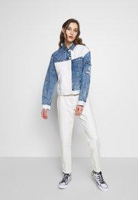 Desigual - LOLLYPOP - Denim jacket - blue deinm/white - 1