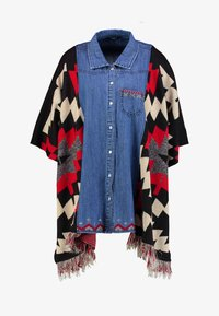 Desigual - PONCHO EXOTIC - Mantella - denim dark blue - 4