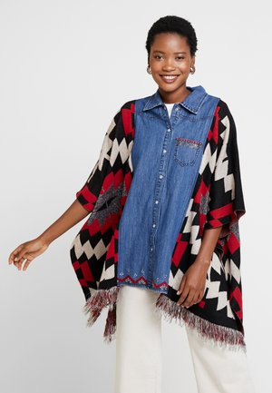 PONCHO EXOTIC - Cape - denim dark blue