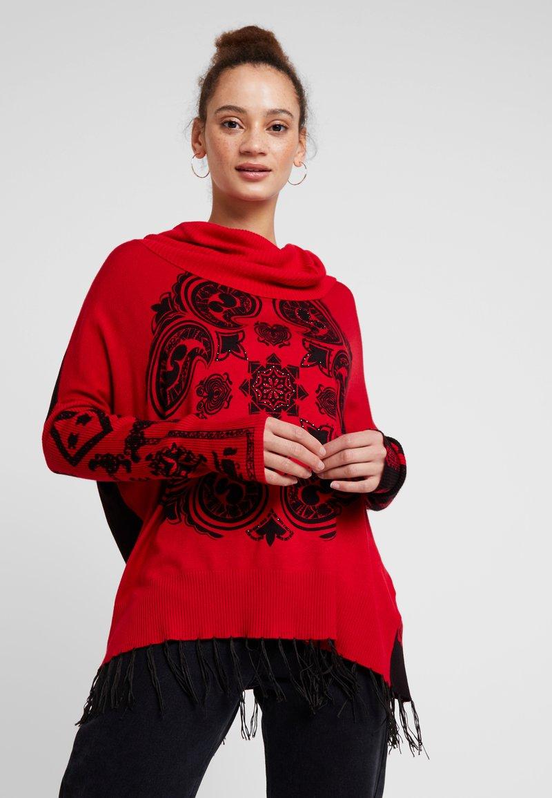 Desigual - PORTLAND - Strickpullover - rojo oscuro