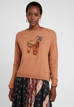 TIGER - Sweter - gold flame