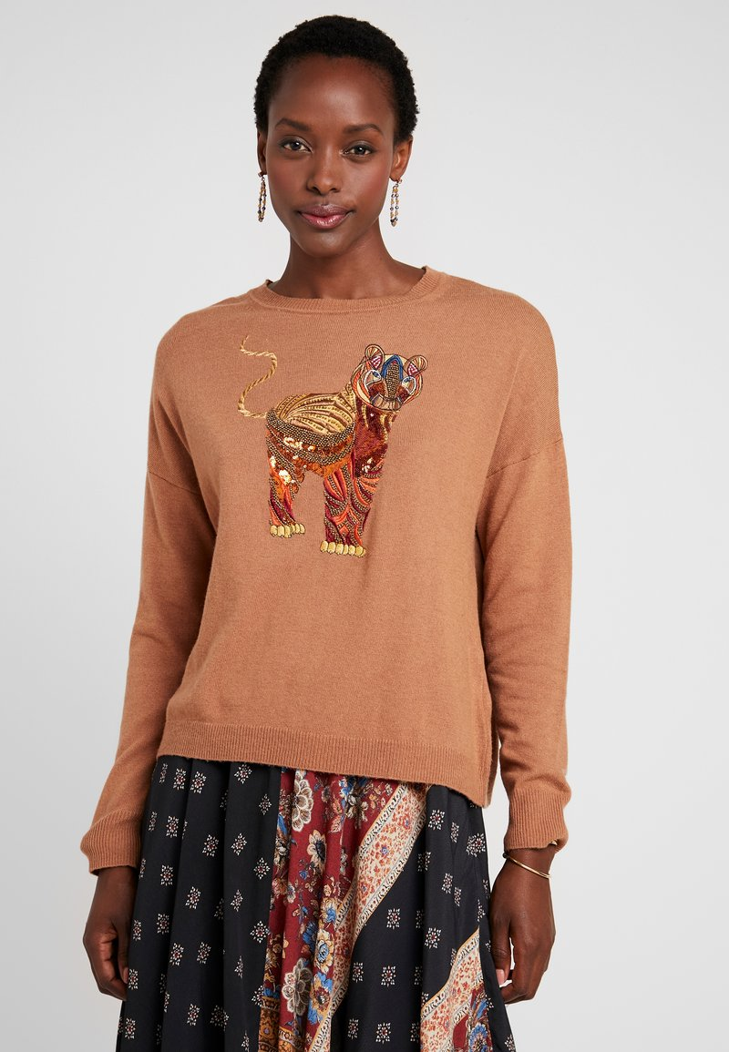 Desigual - TIGER - Jumper - gold flame