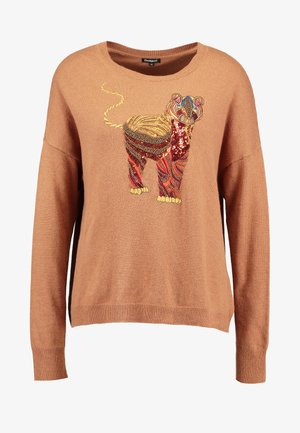TIGER - Pullover - gold flame