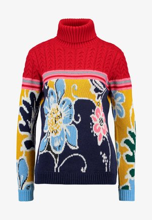 FLOWERS - Pullover - rojo oscuro