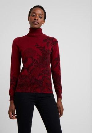 GARDEN - Pullover - merlot