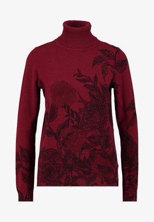 GARDEN - Stickad tröja - merlot