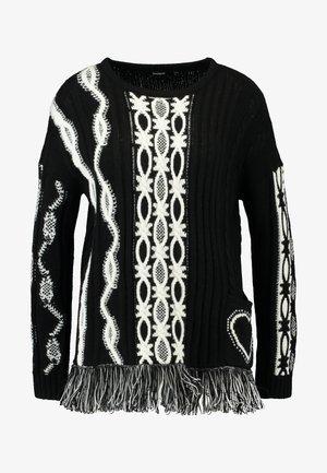 BRIXTON - Stickad tröja - black