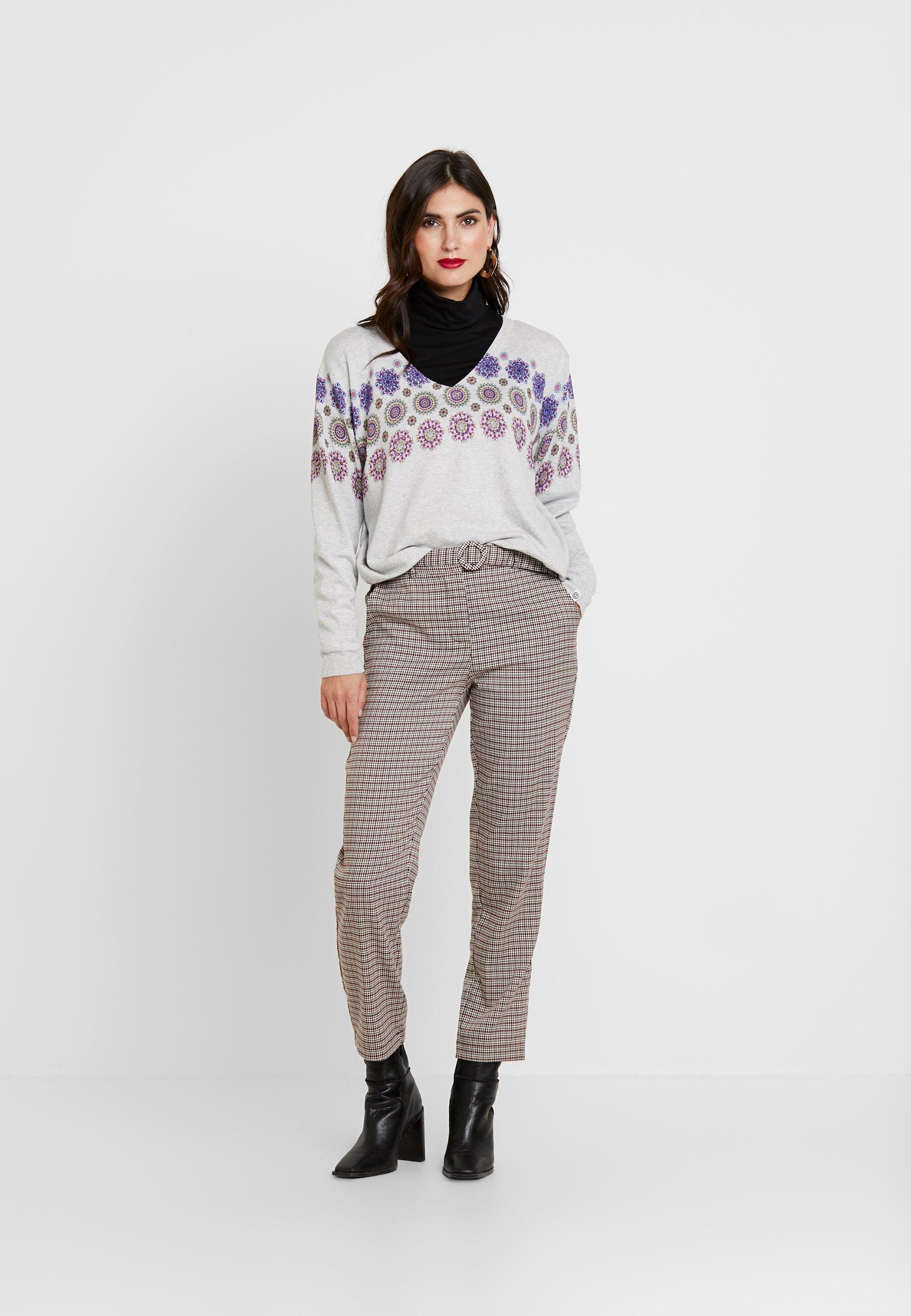 Desigual JERS KERALA - Sweter - gris vigore claro